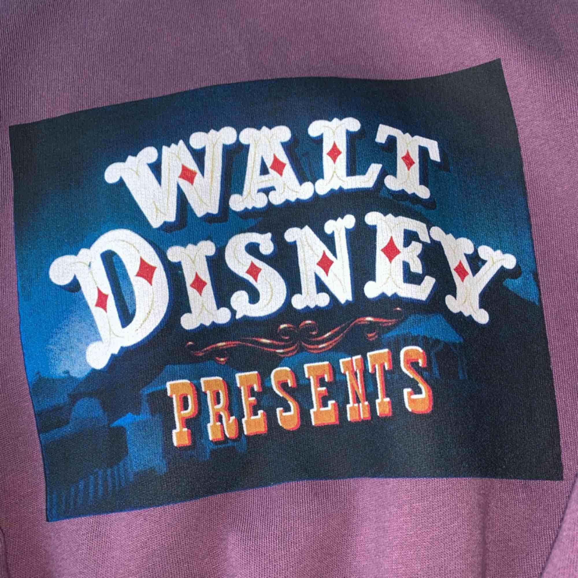 En lila Walt Disney tröja (dumbo). Använd fåtal gånger. Väldigt bekväm. Passar xs-m beroende på hur man vill att den ska sitta. Köpare står för frakt 💜. Huvtröjor & Träningströjor.