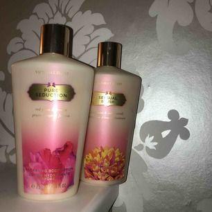 Två st endast testade Victoria's Secret body lotions i doften sensual blush och pure sedution. För 40kr st