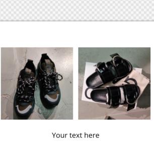 Nya Äkta GANNI låga sneakers med grov sula. nypris 3400kr. Mitt pris 1899kr Nya Äkta GANNI sandaler stl 37 nypris 2790kr. Mitt pris 1599kr.