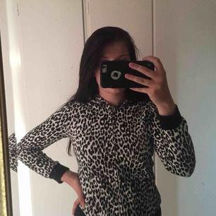 Black and white leopard print coat