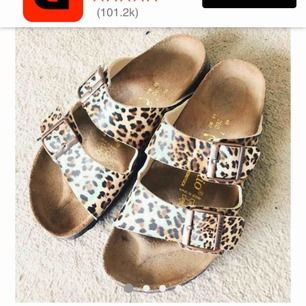 Söker dessa!!   Arizona Leopard Birkenstock papillion storlek 37
