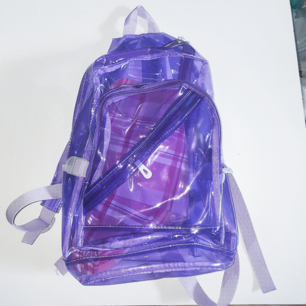 Supercool transparent ryggsäck i plast. Frakt tillkommer på 55 kr eller 63 spårbart ❣