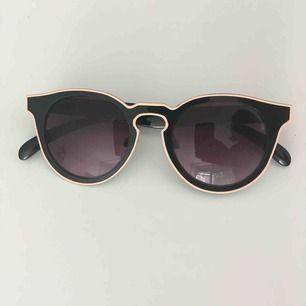 Solglasögon från okänt märke med beige kant. Som nya utan repor på glaset.  Kan skickas mot fraktkostnad eller möta vid Fridhemsplan.