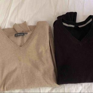 50 kr/st  Beige tröja: storlek 38 Svart tröja: storlek 170