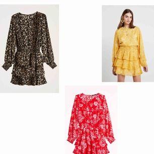 """SÖKER dessa """"Alva"""" klänningar från Gina Tricot!  Strl 34!  Alla färger/mönster är av intresse!"""