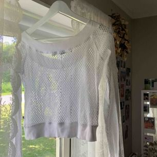 Vit fishnet tröja, oanvänd men vintage!