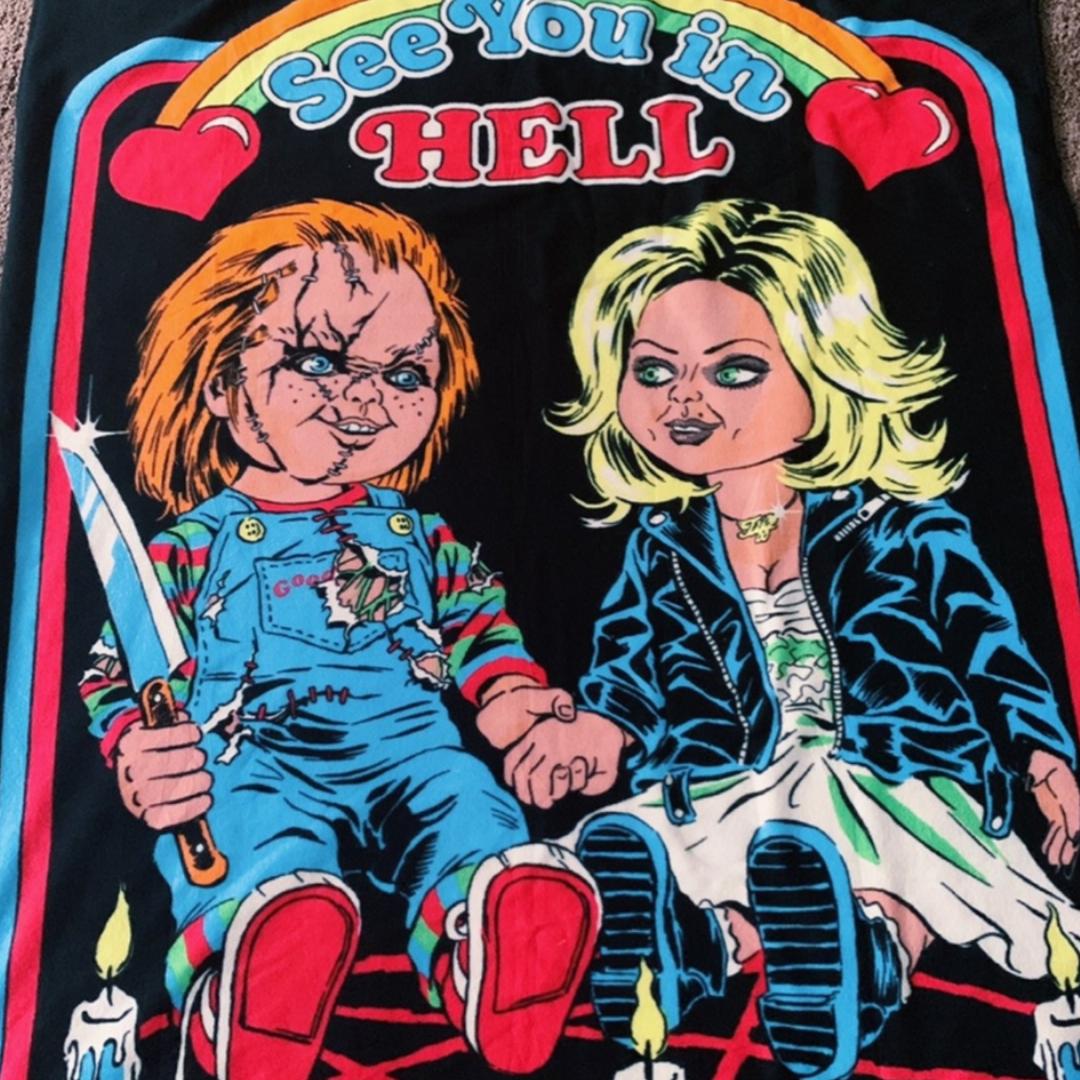 Cool fleecefilt med Chucky