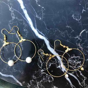 Helt oanvända nya örhängen med äkta glaspärlor! 5 kr frakt 🌞