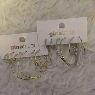 Guld och silver ringar i tre olika storlekar. Aldrig använda. Frakt ingår i priset.