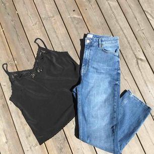 Snygga high waist jeans  Splitternya och helt oanvända!