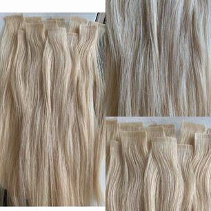 Säljer nu mina extensions (tejp) från Hair Talk, 26 enkla längder/13 dubbla längder. Då håret är klippt efter min längd så är de idag ca 30-35 cm. Var isatta i ca 2,5 vecka. Ord pris 4000 kr