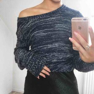 Mysig stickad tröja från Serious Sally, fin blå färg