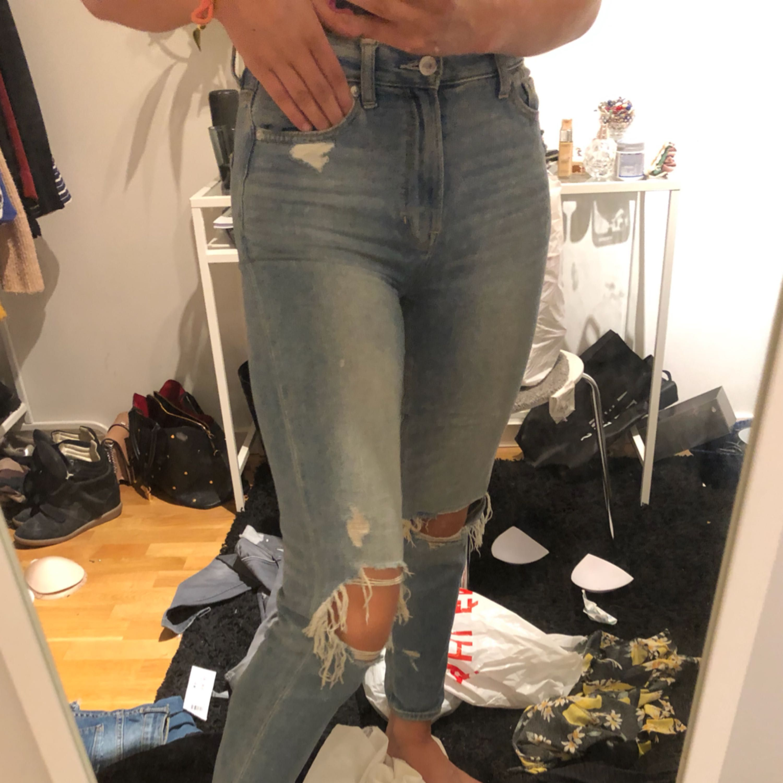 Super snygga amerikan Eagles jeans typ aldrig använda köpta för 500. Jeans & Byxor.