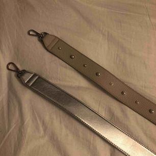 90cm båda två, det beiga bandet är aldrig använt och de silvriga ett fåtal gånger, 50kr styck men 90kr för båda💓