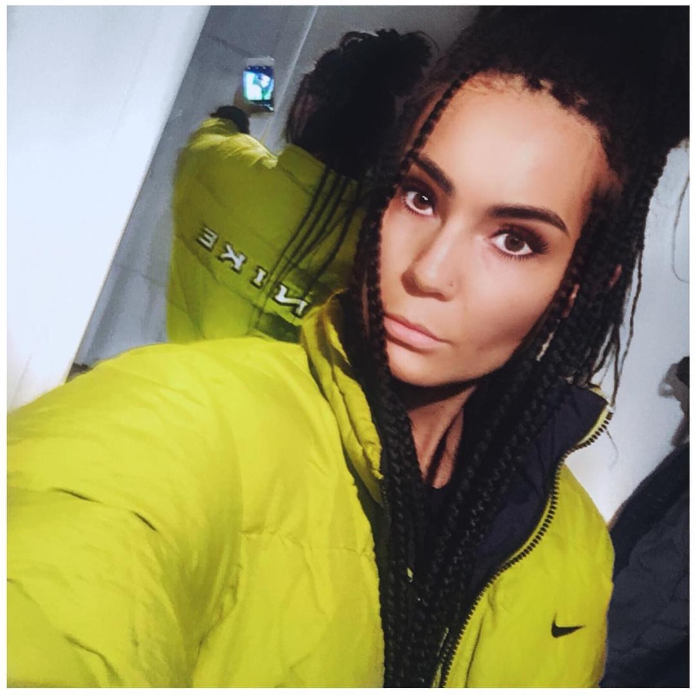 Gul/grön Nike jacka med texten