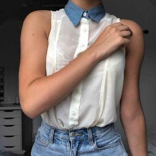 Gräddvit genomskinligt linne från H&M i storlek XS. Säljes pga att den är för liten över bysten. Du som köpare står för frakt ❤️