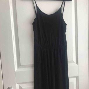 En svart långklänning från h&m som inte kommer till användning längre. Nypris: 200kr men jag säljer för 30kr + frakt och betalningen sker via swish