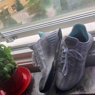 Säljer ett par Adidas ClimaCool skor , de är i väldigt bra stick ! Det står att de är storlek 38 men de är väldigt små i storlek de är mer som 36,5/37! De är jätte sköna !