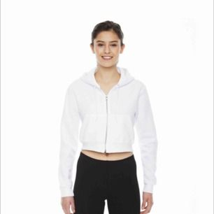❗️SÖKER❗️ cropped zip-hoodie i vit!!!!!! help a sister out, letat överallt & hittar ingenstans :-(