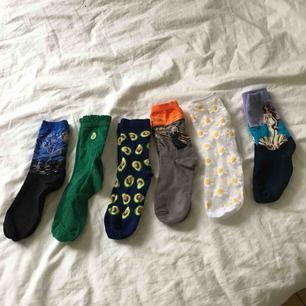 Skitcoola strumpor från olika märken. 20kr/styck men paketpris vid köp av flera. Vissa par är aldrig använda vissa är använda 1 gång (tvättade såklart). Skriv om du har frågor. Köparen står för frakten.