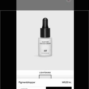 Helt oöppnad custom colour drops från H&M 'Lightening'