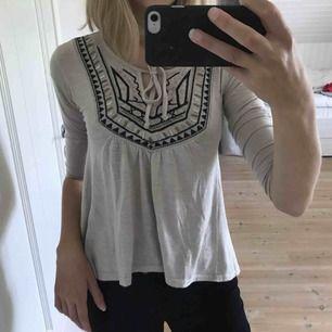Fin och skön tröja från Hollister med 3D detaljer/paljetter. Köpt för ca 350 kr. Använd ett få antal gånger och i fint skick. Säljer pga för liten för mig och inte min stil. Kan mötas upp i Älmhult/Växjö annars står köparen för frakt.