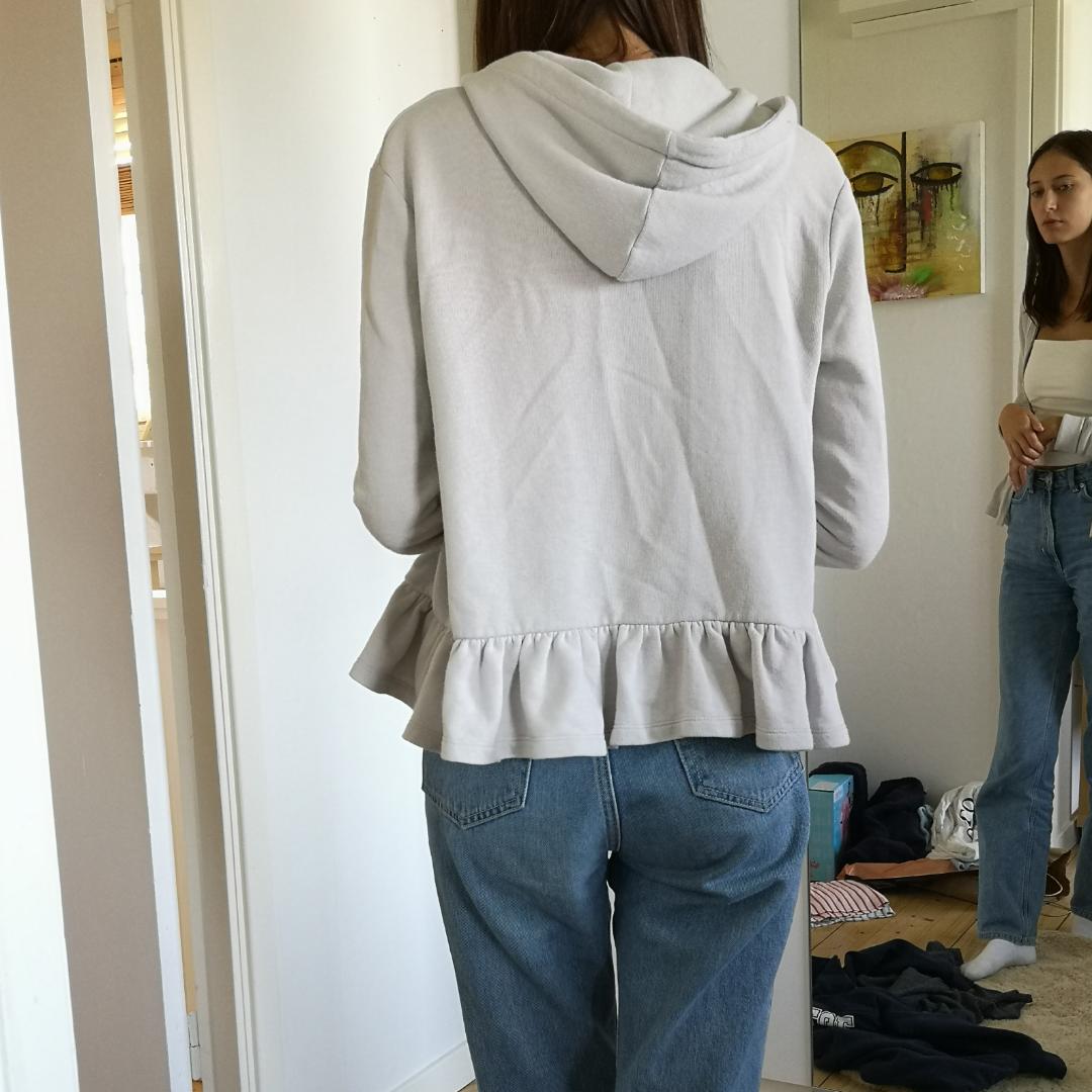 Söt zipper hoodie grå . Huvtröjor & Träningströjor.