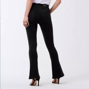 Svarta bootcut jeans från gina i väldigt fint skick!