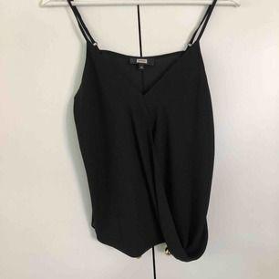Fint svart omlott linne från bikbok. Väldigt sparsamt använt. Frakt tillkommer på 18kr
