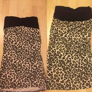 Tubklänning med leopardmönster i väldigt bra skick