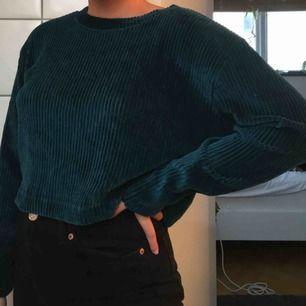 Helt oanvänt blå/grön tröja från weekday. Typ sammetsmaterial och väldigt skön!