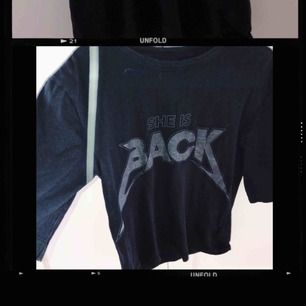 Svart T-shirt från Back  Strl M Sparsamt använd