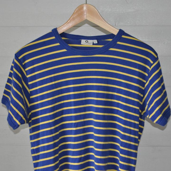 Randig tshirt från Polarn O. Pyret, storlek large. . T-shirts.
