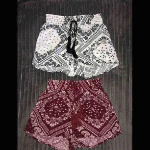 45 kr/st eller båda för 70 kr :)) Säljer dessa härliga shorts! Gummi i midjan och luftigt tyg. Jag som har XS kan ha dessa. Säljer pga för lite användning :\ Betalas med Swish och köparen står för frakten☺️