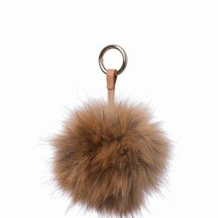 Jättefin nyckelring med äkta päls, min är mycket större och mer fluffig än den som är på bilden men det är samma färg!