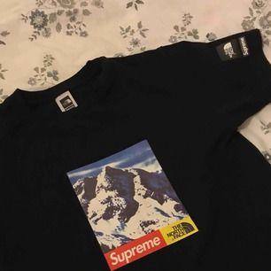 Funderar eventuellt på att sälja min ursnygga Supreme x The North Face T-shirt. Äkta såklarT