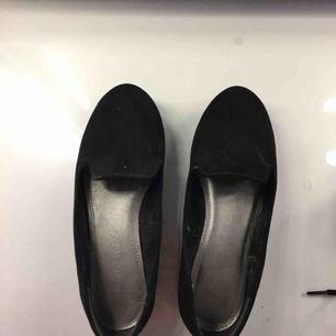 Svarta ballerina skor i bra skick, köparen står för frakten