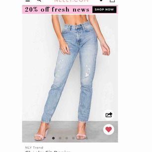 slutsålda jeans från nelly i storlek 27, +60kr frakt🖤