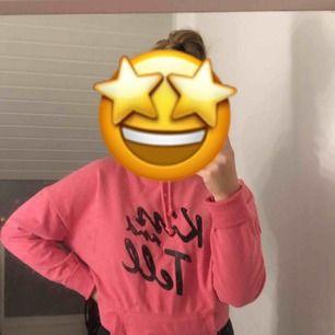 En rosa hoodie , andvänt 2 gånger