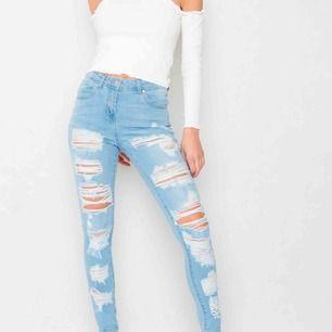 Säljer ett par nya jeans med prislappen kvar! Strl 34/xs/s  Nypris 499:- på JFR