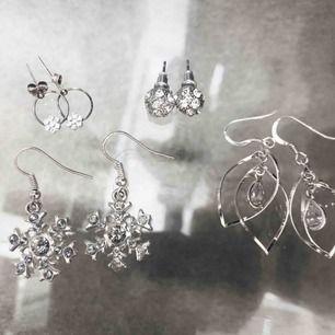 Örhängen i äkta silver, 20kr/st eller alla för 65kr
