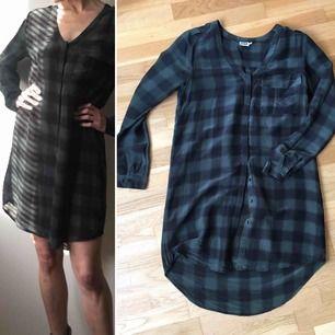 Rutig skjortklänning i siden bomull blandning från Twist & Tango mycket bra skick