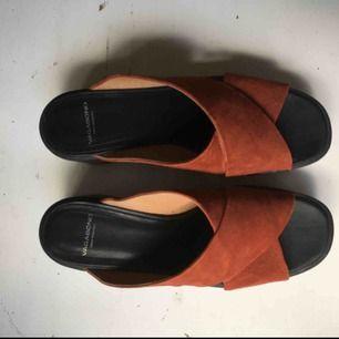 Världens finaste skor från Vagabond i roströd mocka. Använda ett par enstaka gånger.