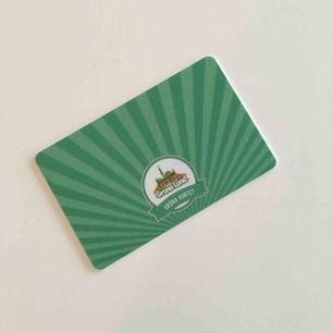 Gröna kortet, för dig som vill se konserter eller Sommarkrysset på Gröna Lund. Sista konsertdag är 27 september. Originalpris 290:-, säljer för 200:- inklusive frakt.