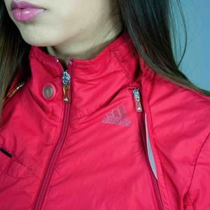 Vintage Adidas 00s Y2K windbreaker track jacket/vest with detachable sleeves in red size XS Some signs of wear  SIZE Label is faded, but we can see XS and it fits XS best Model: 165/XS Measurements: Length: 59 cm Pit to pit: 42 cm