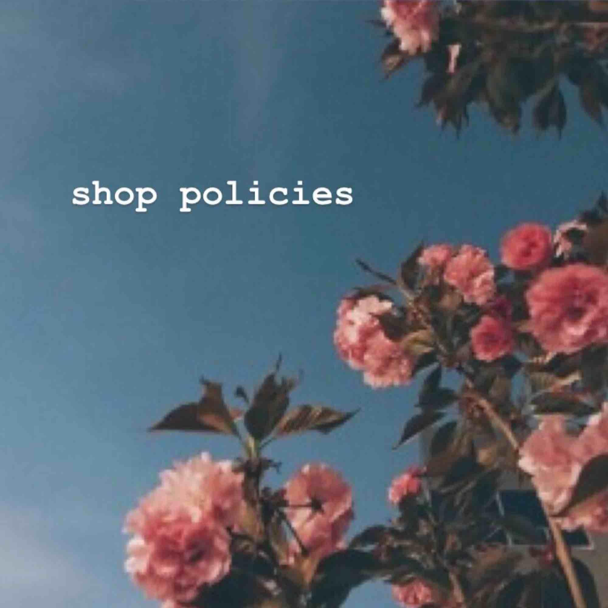 ⬆️ SHOP POLICIES ⬆️ snälla läs innan köp 💓. Övrigt.