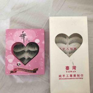 Lösögonfransar rosa paketet innehåller 4par och vita paketet innehåller 7 par. båda för 30kr eller 15kr styck🌹