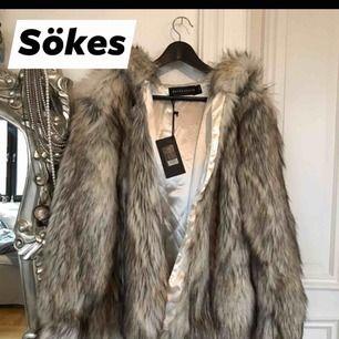 Jag söker denna faux fur jacka från BikBok Never Denim. Ångrar att jag inte köpte den i butik och är nu intresserad av att se om jag kan köpa den second hand!