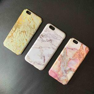 Mobilskal med marmormönster till iPhone 6s. Bra skick! 50sek styck eller 100 för alla tre.