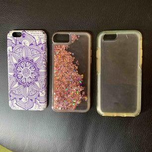 Mobilskal till iPhone 6s, inkamönster, glitter som rör sig och genomskinligt. 50sek styck.